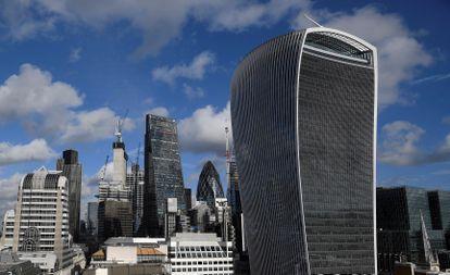 Imagen de la City, el distrito financiero de Londres, en enero de 2018.
