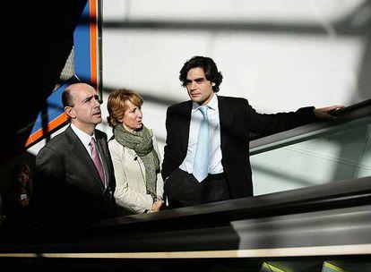 Manuel Lamela, Esperanza Aguirre y Juan José Güemes, en 2008.
