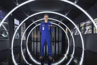 El astronauta Pedro Duque durante la presentación.
