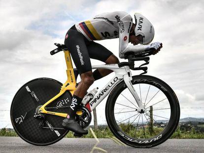 Bernal, en la 20ª etapa del Tour.