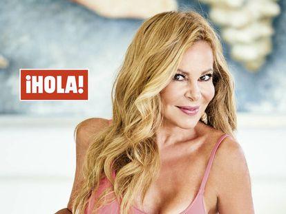 Ana Obregón en una de las imágenes que aparecen en la revista '¡Hola!' esta semana.