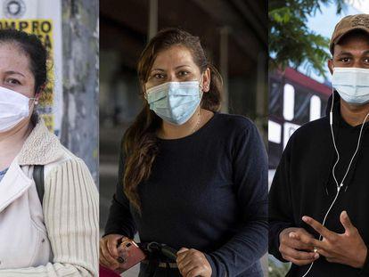 Janina Flores (36 años) Leni Pardo (39) y Abdulai Barry (21)