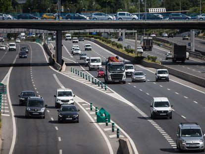 La autopista de la M30 durante la desescalada por el Covid-19.