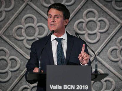 Manuel Valls, en su presentación como candidato a la alcaldía de Barcelona, el pasado 25 de septiembre.