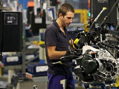 La fabricación de motores es la única que se ha mantenido en Almussafes durante el mes de agosto.