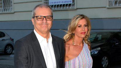 Ramón García y Patricia Cerezo en un concierto en Madrid en julio de 2018.