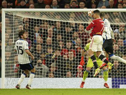 Cristiano Ronaldo, en la acción del definitivo 3-2.