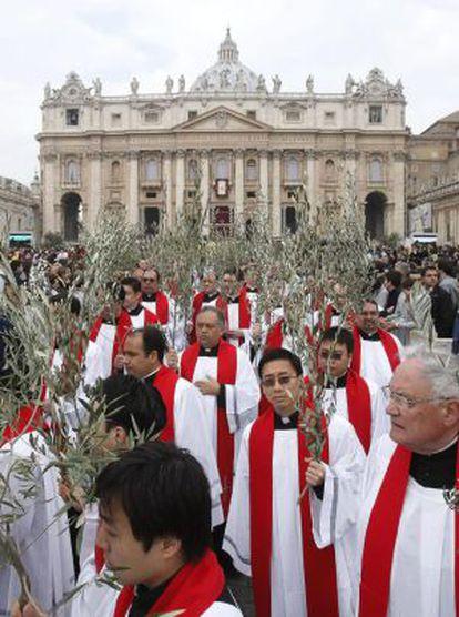 Procesión de las Palmas del Domingo de Ramos en el Vaticano