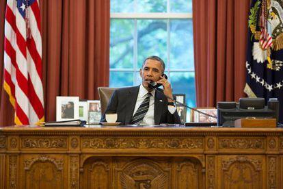 Obama habla por teléfono con Rohaní.