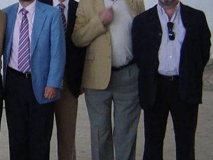 De izquierda a derecha, Fernando Mellet, Manuel Gómez Lobo, Domingo Enrique Castaño y Juan Lanzas.