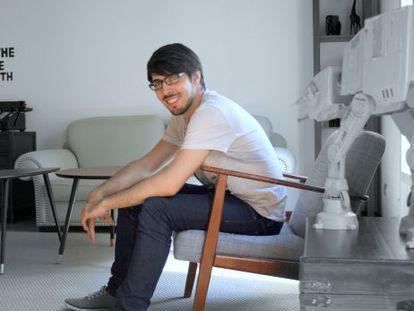 Pablo López en la sede de su empresa Seedtag en Madrid.