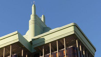 El enchufe de las Torres de Colon, antes de su desmontaje.