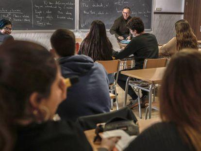 Alumnos de un instituto de Valencia.