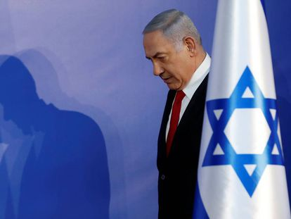 El ex primer ministro de Israel, Benjamín Netanyahu, en Jerusalén en una imagen de 2019.