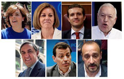 Los siete aspirantes aliderar el Partido Popular