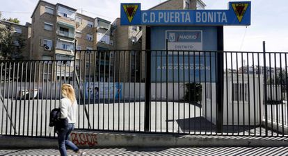 Entrada a las instalaciones del Puerta Bonita el pasado lunes.