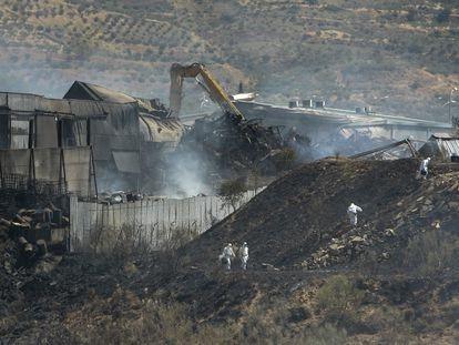 Incendio de la planta de residuos peligrosos de Chiloeches (Guadalajara) en agosto de 2016.
