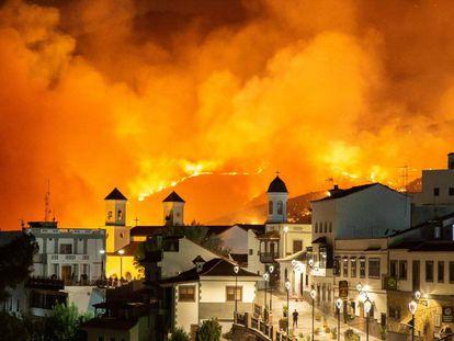 El municipio de Tejeda, en la isla de Gran Canaria, con el gran incendio forestal de agosto del año pasado.