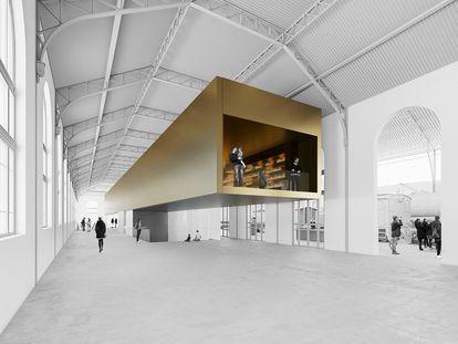 Proyecto ganador del concurso de ideas para rehabilitar  la estación de Delicias, en Madrid.