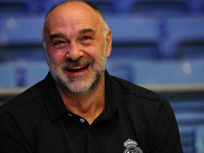 Pablo Laso, en el pabellón de la Ciudad Deportiva de Valdebebas.