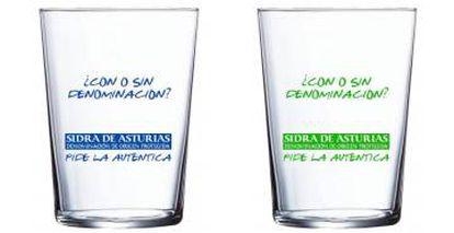 Los vasos que se distribuirán en locales de Asturias a finales de mayo.
