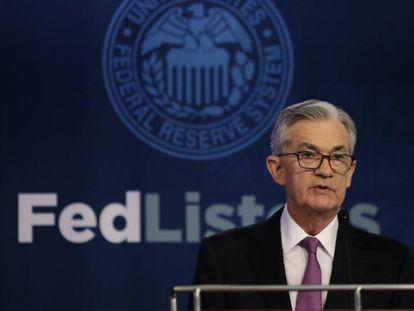 Jerome Powell, presidente de la Reserva Federal de EE UU.