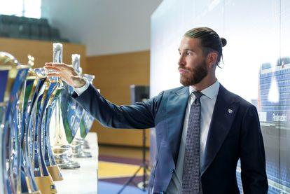 Sergio Ramos, en su despedida del Madrid.