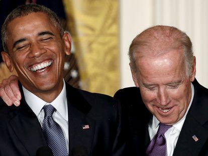 Barack Obama y Joe Biden, en la Casa Blanca en 2015.