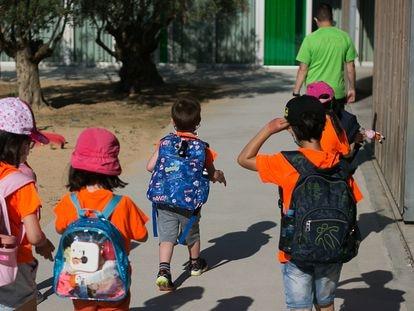 Alumnos de un colegio público de Cataluña.