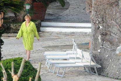 Angela Merkel en sus vacaciones en Isquia.