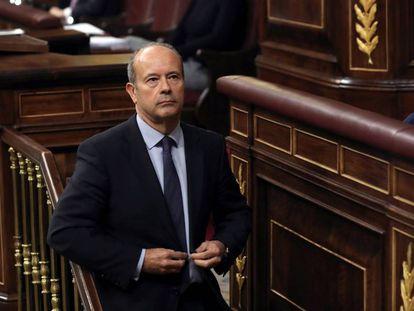 Juan Carlos Campo, durante un pleno del Congreso.
