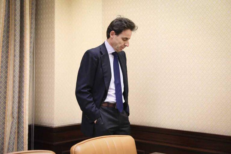 El empresario Javier López Madrid, durante su comparecencia en la comisión sobre financiación del PP celebrada en el Congreso en abril de 2018.