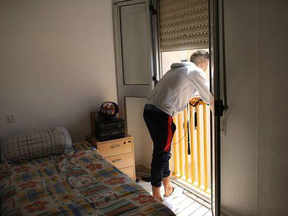 Un joven marroquí no acompañado, en Jerez de la Frontera (Cádiz).
