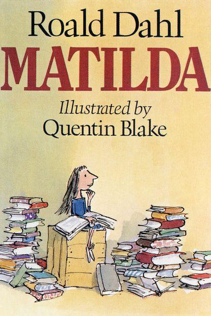 Portada de <i>Matilda</i>, de Roald Dahl, en edición de Jonathan Cape.