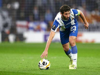 Granero, durante un partido de Europa League del Espanyol contra el Ludogorets