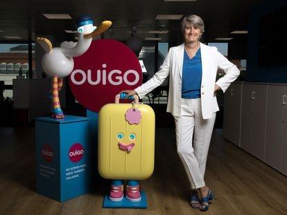 Hélène Valenzuela, directora general de Ouigo, en sus oficinas de Madrid.