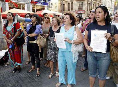 Concentración en Tenerife por el asesinato de Katherine Z. el pasado lunes.