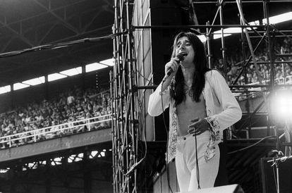 Steve Perry en un concierto de Journey en Chicago, en agosto de 1979.