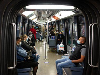 Un vagón del metro de París, el pasado mayo.