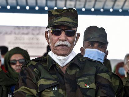 El líder del Frente Polisario, Brahim Gali, en el campo de refugiados de Tinduf (Argelia) el 27 de febrero.