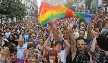 Fiesta del Orgullo Gay en Madrid.