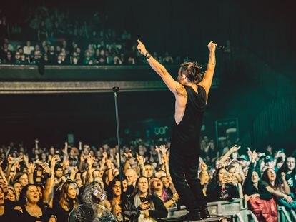 Lauri Ylonen de The Rasmus da un concierto en Londres, el 12 de octubre de 2019.