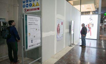 Lavabos públicos en la Estación de Sants.