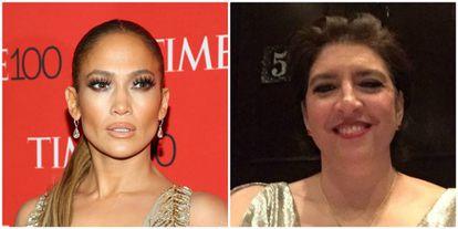 Jennifer Lopez y su hermana Leslie Scholl.
