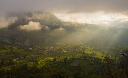 El valle de Ambato, en la sierra ecuatoriana.