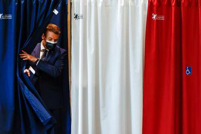 El presidente francés, Emmanuel Macron, se dispone a votar este domingo en el municipio costero de Le Touquet.