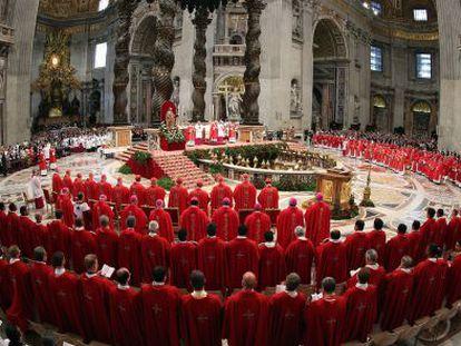 El Papa Francisco en la celebración de Pentecostés.