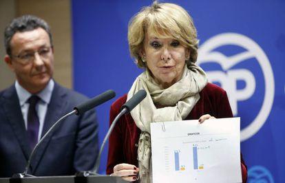 Esperanza Aguirre y Henríquez de Luna durante una rueda de prensa en noviembre.