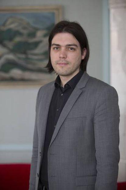 Ivan Vilibor Silcic, retratado el pasado marzo tras la entrevista en el Parlamento del país, en Zagreb.