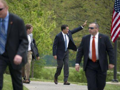 Mitt Romney en un mitin en Pensilvania, el martes.